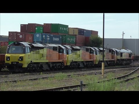 Freight Trains @ Shawford & Eastleigh Stations - 18th July 2017
