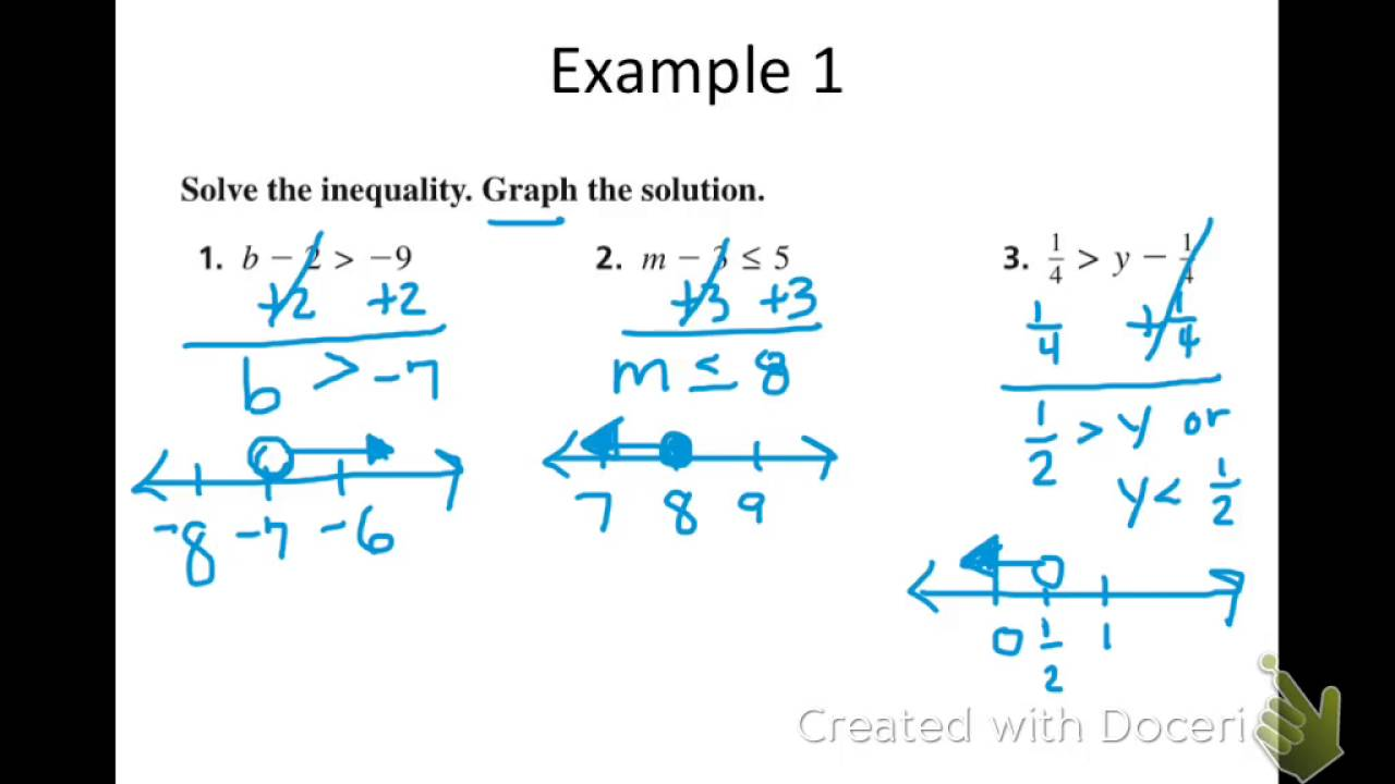 algebra 2 2 solving inequalities using addition and subtraction youtube. Black Bedroom Furniture Sets. Home Design Ideas