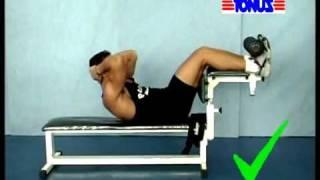 Técnica de execução de exercícios Abdomen