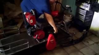 Реверс-редуктор ATV-150 на мотособаке Мухтар