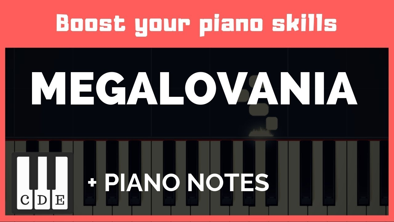 Megalovania (Undertale) – how to play keyboards