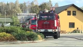 Pożar kurnika w Dąbiu. Strażacy ratowali 20 000 kur