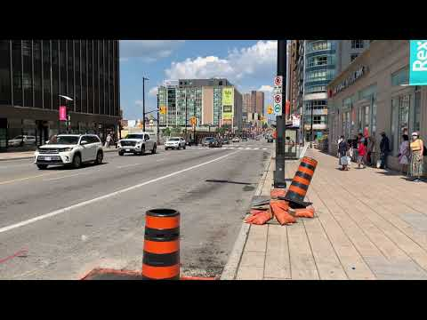 Downtown Ottawa Rideau Street Canada Day July 1, 2020 Covid-19