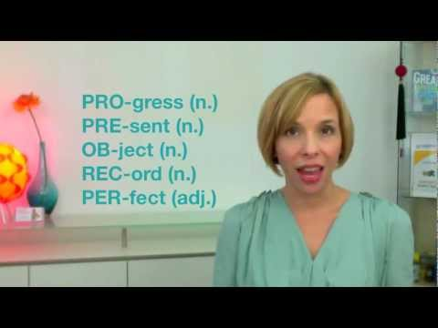 Word Stress in 2-syllable Nouns, Adjectives and Verbs (Heather Hansen)