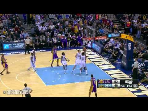 Kobe Bryant Triple Double Highlights Lakers vs Nuggets 2014 12 30 23 Pts, 11 Ast, 11 Reb, VINO!