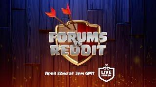Clash of Clans Forums vs Reddit Livestream Tease