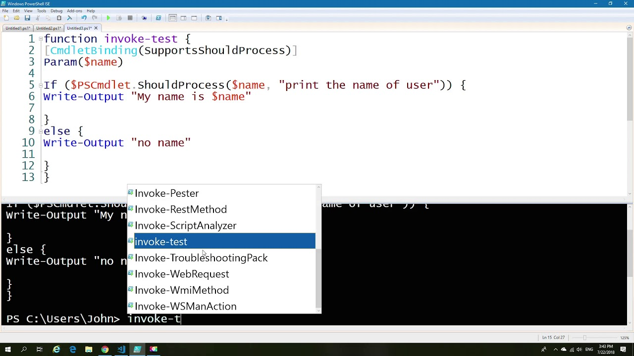 Powershell Confirm, Impact and What-if