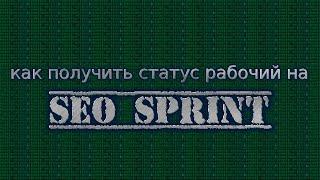 """Как получить статус """"рабочий"""" на Seo sprint!!!"""