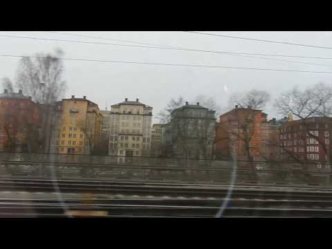 Sweden - Public Transport - Regional Train from Stockholm to Enköping 2016 12 17