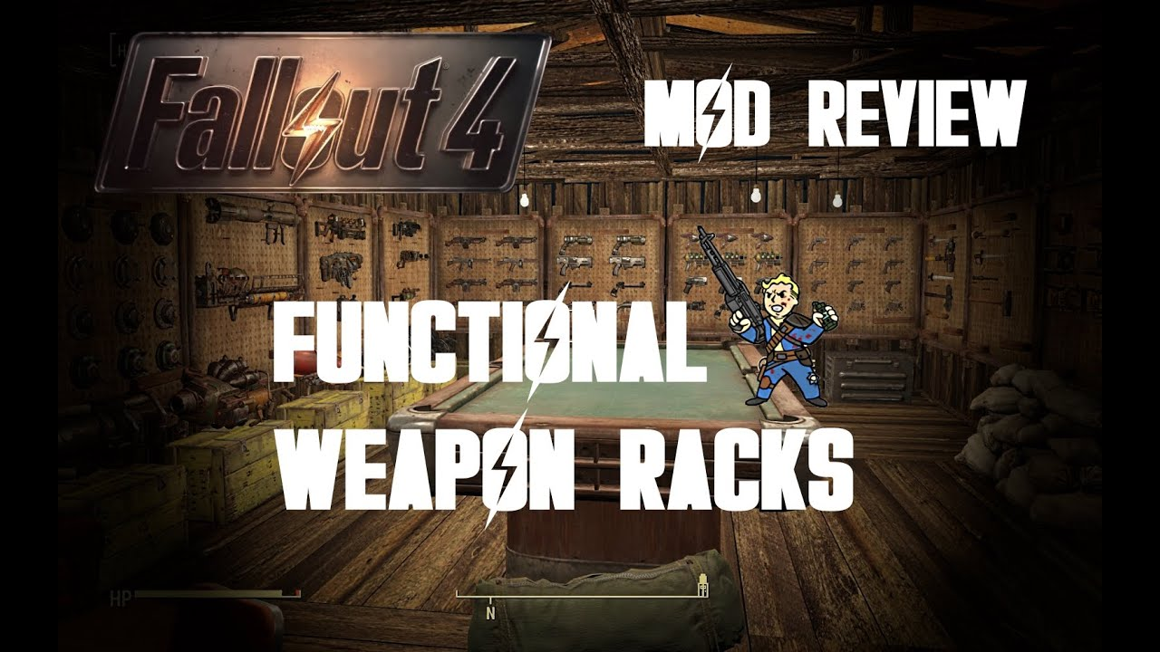 how to put weapons in display fallout 4
