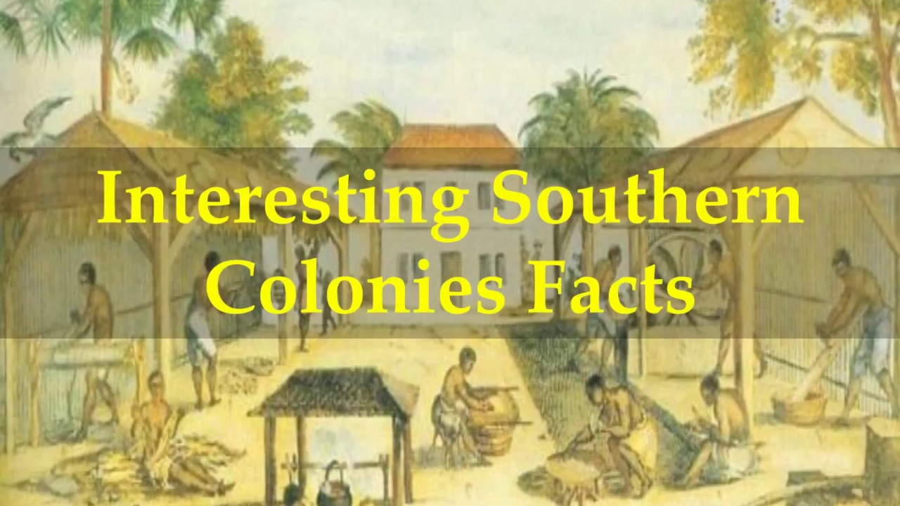 Interesting Southern Colonies Facts Youtube