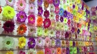 видео Искусственные цветы из Китая оптом.