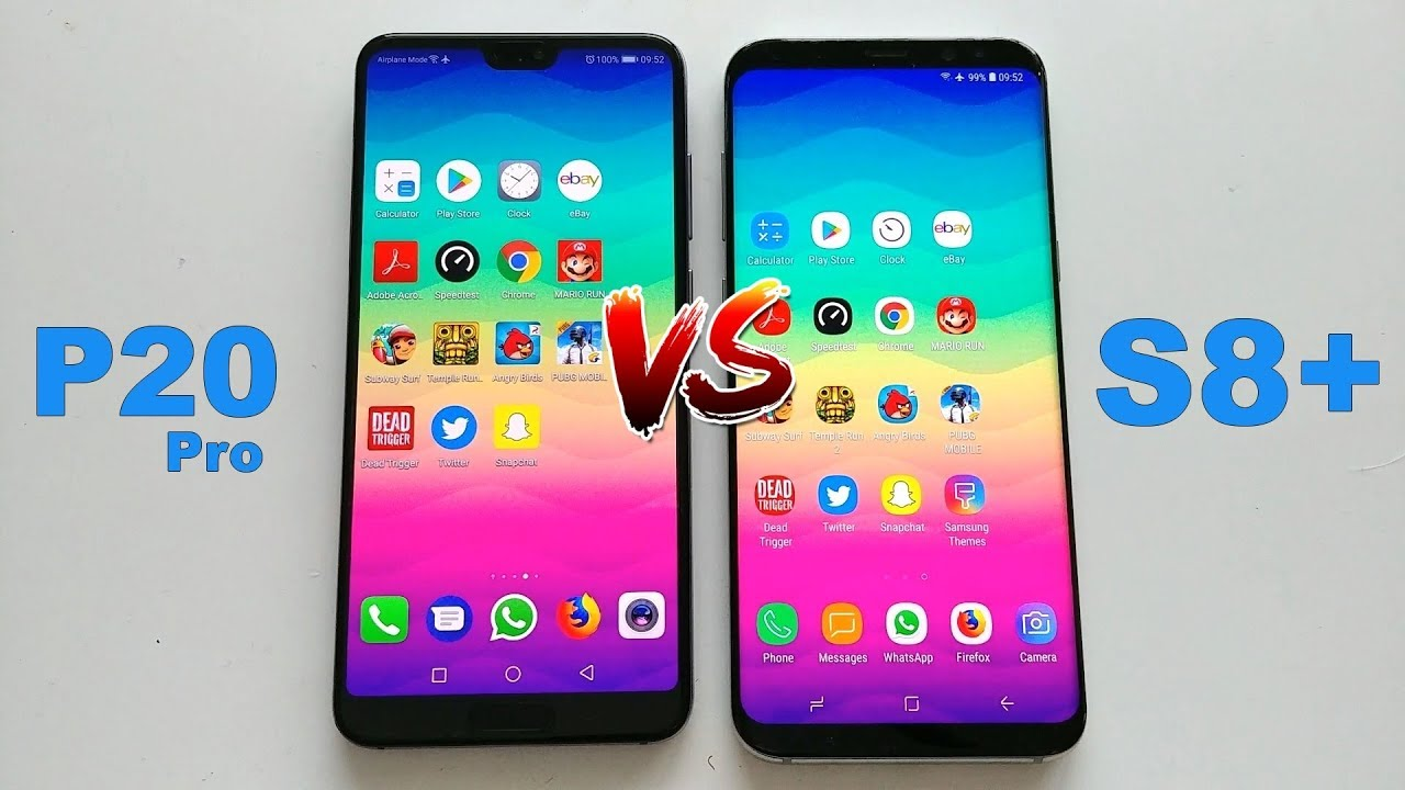 huawei p20 pro vs samsung galaxy s8 plus speed test youtube. Black Bedroom Furniture Sets. Home Design Ideas