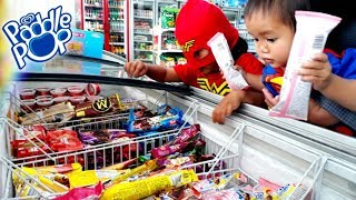 SUPERHERO Beraksi Berburu Es Krim di Indomaret - Es Krim PADDLE POP Fruity Bubble