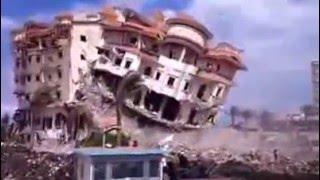 بالفيديو : لحظة إنهيار مبني تكلفته 8 مليون جنيه خلال حملة إزالة