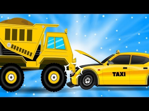 Taxi hits the Dump Truck | Car Repair | Cars Garage | Videos