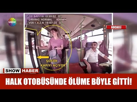 Halk otobüsünde ölüme böyle gitti!