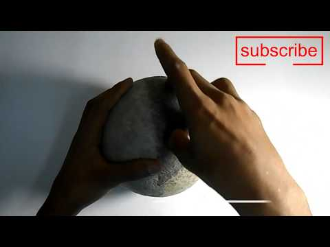 How to make bowling ball at home very easily with old news papers | paper meshy | paper clay |