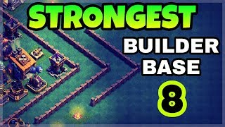 BEST BUILDER BASE 8 LAYOUT WITH REPLAY | STRONGEST BUILDER HALL 8 BASE | CLASH OF CLANS