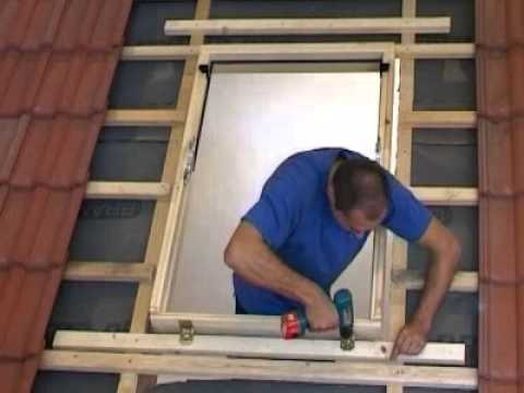 install a rooflite roof window 7 tile roof part two fix the frame youtube. Black Bedroom Furniture Sets. Home Design Ideas
