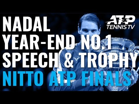 Rafa Nadal Year-End No. 1 Speech \u0026 Ceremony | Nitto ATP Finals 2019