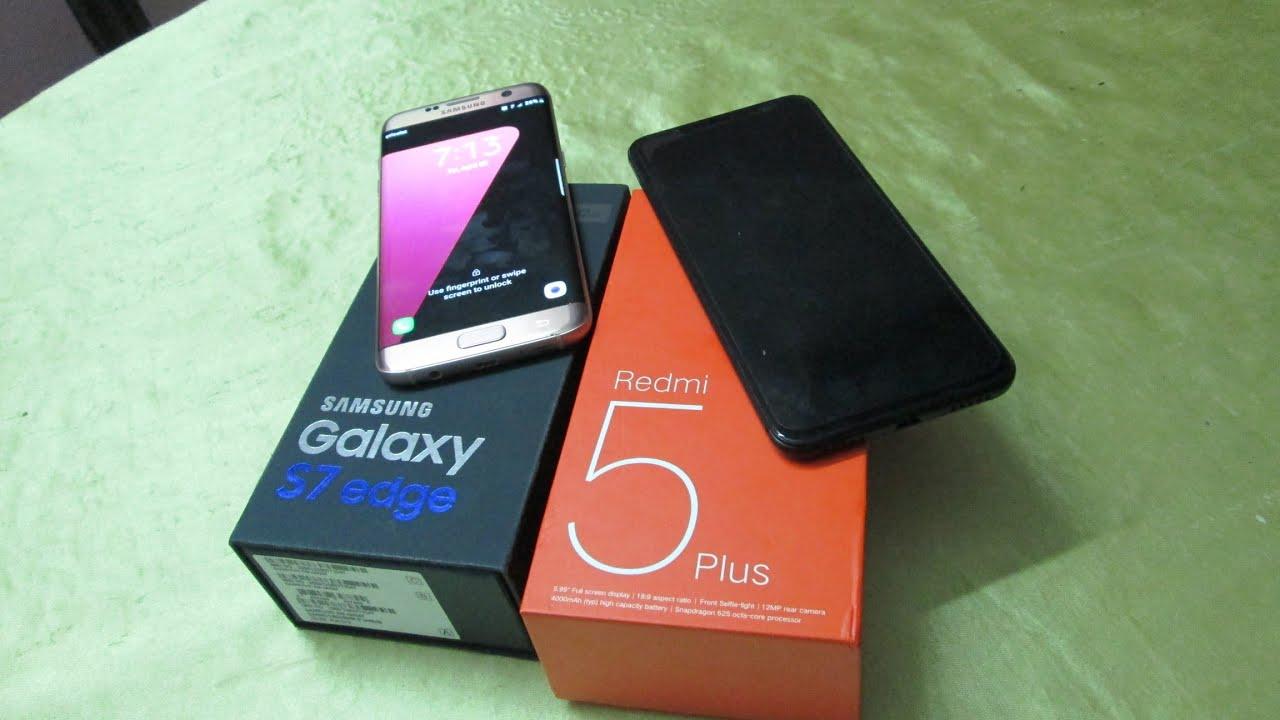 مقارنة بين شاومي ريدمي 5 بلس وسامسونج S7 ايدج   |  Xiaomi vs Samsung Show
