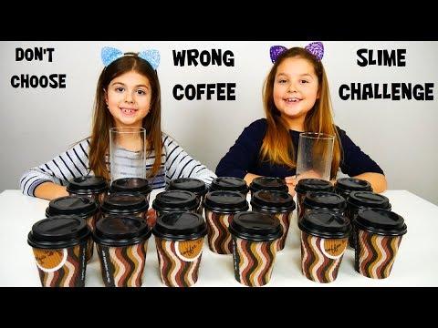 ARIADNI ARTEMI και ΜΗ ΔΙΑΛΕΞΕΙΣ ΤΟ ΛΑΘΟΣ ΚΑΦΕ SLIME CHALLENGE / DON'T CHOOSE THE WRONG COFFEE SLIME