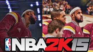 nba 2k15 cleveland cavaliers starting lineup intro ft lebron james kevin love and kyrie irving