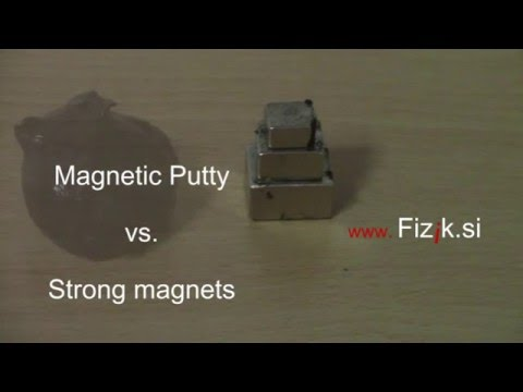 Magnetic putty vs. strong magnets - Fun science experiment