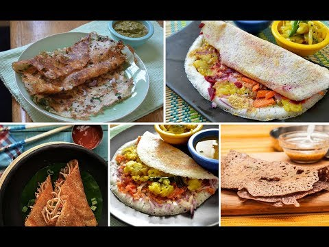 Top 10 Indian Dosa Varieties | Authentic Dosa & Adai Recipes | Indian Dosa Varieties - VAGMI FOODS