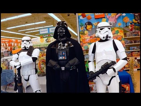 Darth Vader Invaded Toys R Us For Toys 4 Tots...