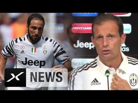 "Massimiliano Allegri: ""Gonzalo Higuain war nicht in Topzustand"" | Juventus Turin"