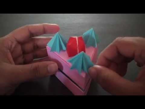 Origami Strawberry Short Cake Box