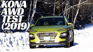 2019 Hyundai Kona AWD Traction Test (WINTER)