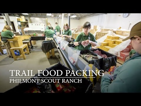Trail Food Packing at Philmont Scout Ranch