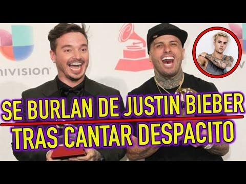 J Balvin y Nicky Jam SE BURLAN de Justin Bieber tras cantar DESPACITO en ESPAÑOL