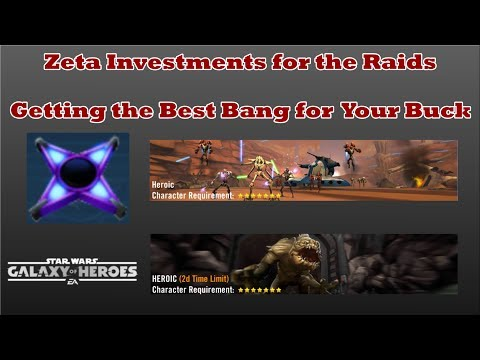 Ranking Zeta Abilities for the Raid- Getting Your Best ROI