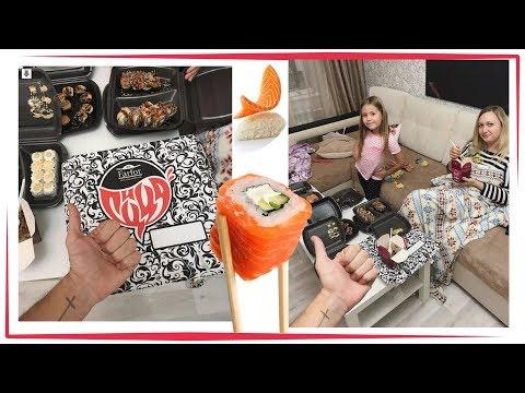 🍤  Суши Фарфор Уфа СЕМЕЙНЫЙ УЖИН 🍣  Славный Обзор. Вкусные Суши Sushiya Eating Rolls And Sushi