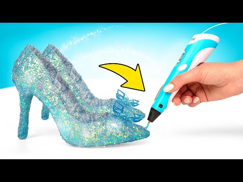 TỰ LÀM Giày Thủy Tinh Bằng Bút 3D   Foci