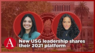 New USG leadership share their 2021 platform