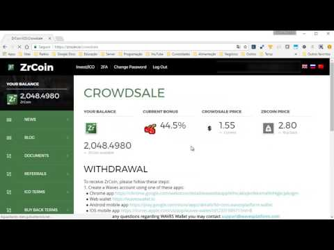 ZrCoin - Como transferir as moedas da ICO para a carteira WAVES