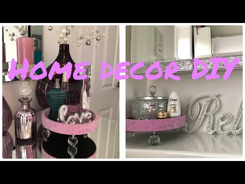 Easy Home Decor DIY using Poundland/ Dollar Store Mirror Useful DIY Challenge Feb 2019