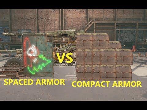 Crossout 101 - Spaced armor vs Compact armor
