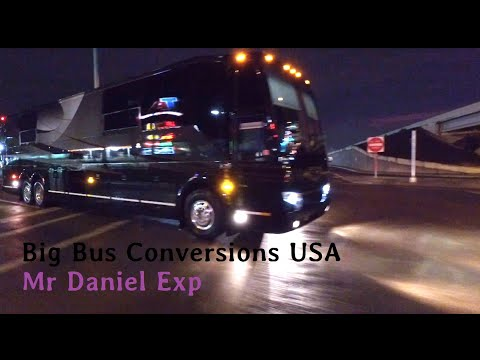 A Very Cool Prevost H3-45 custom motorcoach tour band bus