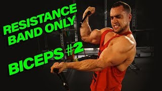 Intense 5 Minute Resistance Band Bicep Workout #2