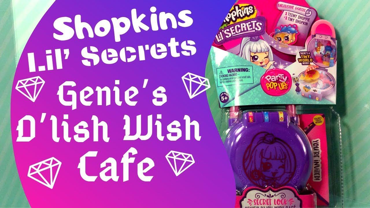 Shopkins Lil Secrets Party Pop Ups Secret Lock Genie/'s Delish Wish Cafe New