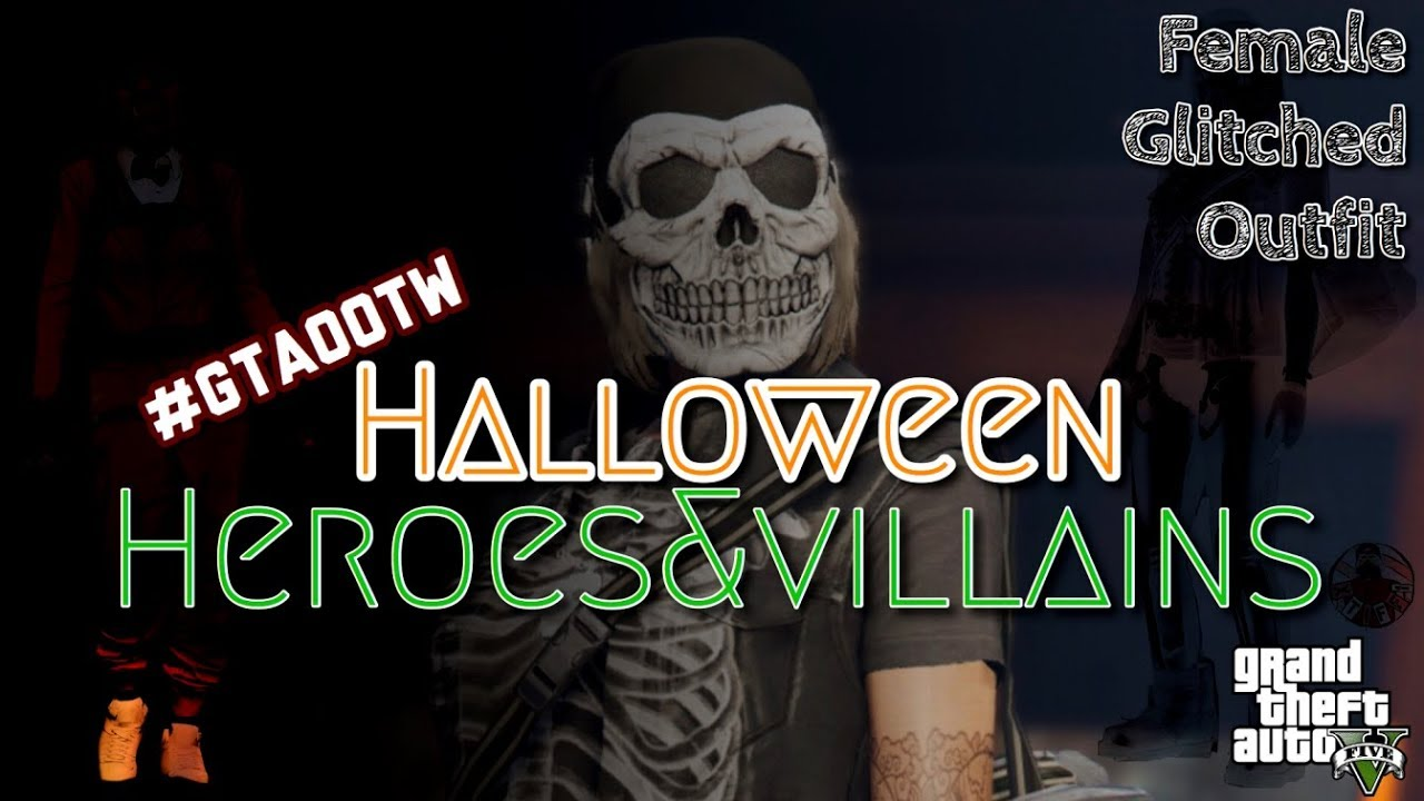 GTA5 | Female Glitched Outfit: #GTAOOTW Halloween Villains