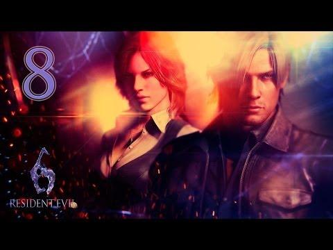 Resident Evil 6 Co-op (Леон) - #8 [Пещера]
