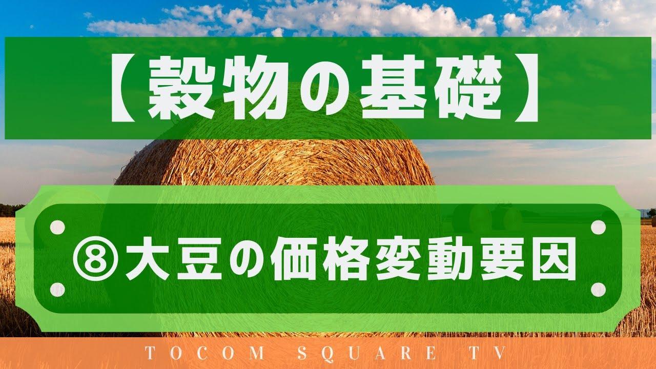 穀物の基礎知識⑧大豆の価格変動要因「TOCOMスクエアTV」商品先物相場展望
