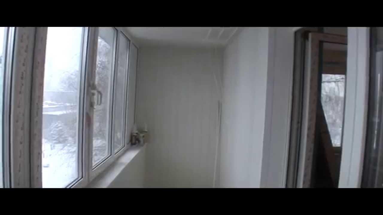 Максимус окна - обшивка балкона белой пластиковой вагонкой -.